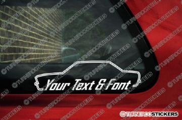 2x Bmw E28 5-series CUSTOM TEXT stickers